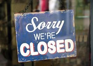 Vintage closed sign