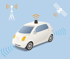Driverless Car (autonomous vehicle) Image Illustration, vector