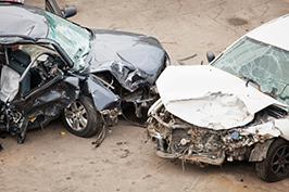 crashed cars