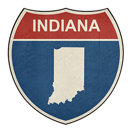 Grunge Indiana interstate highway shield